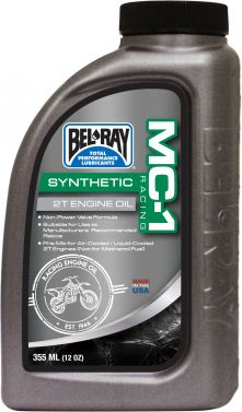 BEL-RAY - MC-1 FULL SYNTHETIC 2T ENGINE OIL 12.8OZ - 840-0103