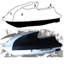 Yamaha PWC Custom Storage Cover 1999-2000 XL1200 LTD - 2001-2005 XLT1200 - 2000-2002 XL801 Watercraft Superstore  111WS400-C