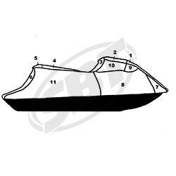 Yamaha PWC Custom Storage Cover 2012-2013 FX HO FX SHO FX Cruiser Watercraft Superstore  111WS422-C