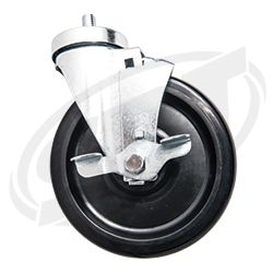 "PWC Shop Cart Caster Swivel 6"" Brake SBT 12-501-31"