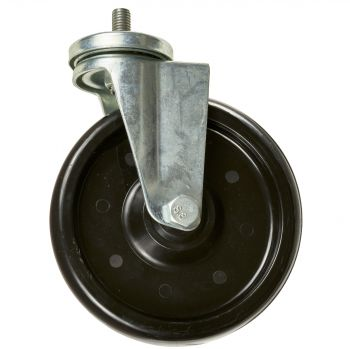 "6"" Caster Wheel, Swivel Non-Brake 8mm Bolt M12X1.75 Stud"