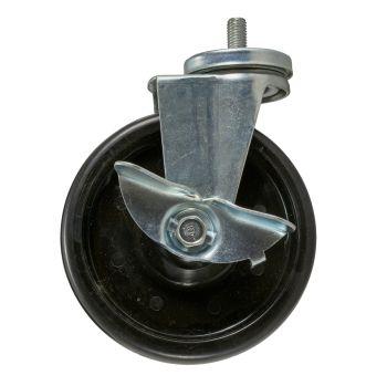 """6"""" Caster Swivel Brake Wheel 8mm Bolt M12X1.75 Stud"""