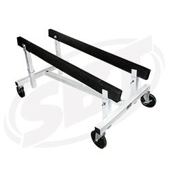 """PWC Angle Adjustable Height Shop Cart 20"""" 27.75"""" 18"""" Bunk Centers With 6"""" Wheels SBT 12-503"""