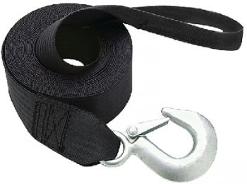 """Trailer Winch Strap With Hook Loop End 20' Length 2"""" Seachoice 51241"""