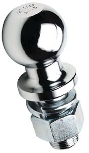 "Trailer Hitch Ball Chrome Plated Steel 2"" Seachoice 51341"