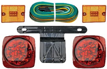 Submersible Trailer LED Light Kit With Side Lights Seachoice 51901