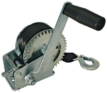 """Trailer Winch Manual 1200# Load With 2"""" Seachoice 52191"""
