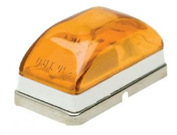 Trailer Submersible Sealed Mini Marker Light Amber Lens Seachoice 52521