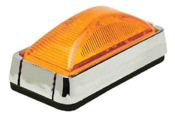 Trailer Sealed Marker Light Amber Lens Chrome Bracket Seachoice 52541