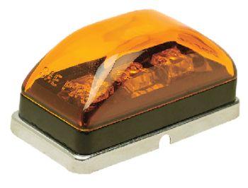 Trailer Sealed Marker Light LED Amber Lens Chrome Housing Seachoice 52561