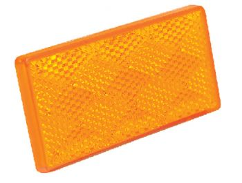 Trailer Submersible Reflector Pair Amber Adhesive Back Seachoice 52571