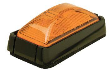 Trailer Sealed Marker Light Amber Lens Black Bracket Seachoice 52621