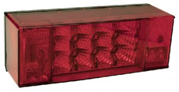 """Trailer Light Left Tail With License Light LED Over 80"""" Seachoice 52641"""