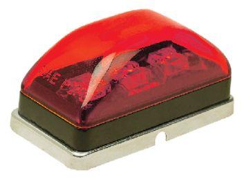 Trailer Sealed Marker Light LED Red Lens Chrome Housing Seachoice 52691
