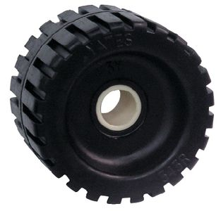 "Trailer Ribbed Roller Black Rubber 4 3/8"" Seachoice 56330"