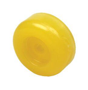"""Trailer Roller End Cap Non-Marking Yellow 3 1/2"""" Seachoice 56620"""