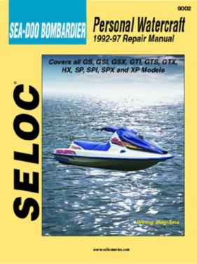 Repair Manual Seadoo PWC 92-97 GS GSI GSX GTI GTS GTX SP SPI SPX XP Seloc 9002