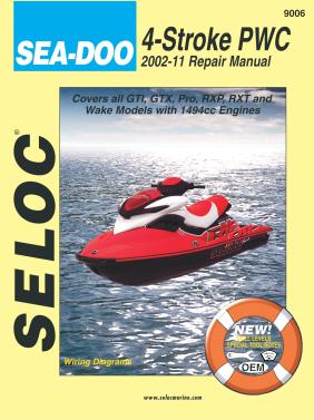 Repair Manual Seadoo PWC 02-11 4-TEC GTI GTX Wake RXP RXT Seloc 9006