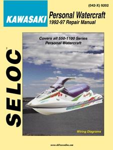 Repair Manual Kawasaki Jetski PWC 92-97 550 650 750 900 1100 Seloc 9202