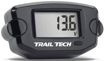 TRAIL TECH - VOLTAGE METER BLACK - 665-0031