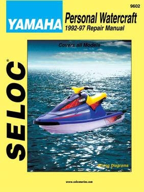 Repair Manual Yamaha Waverunner PWC 92-97 Wave Jammer Superjet Seloc 9602