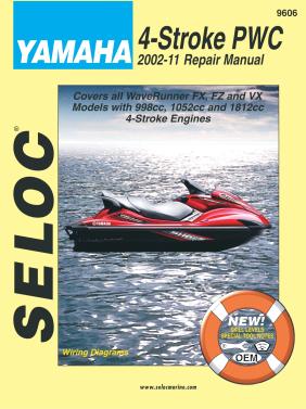 Repair Manual Yamaha PWC 02-11 4-Stroke FX FZR VX 1000 1100 1800 Seloc 9606