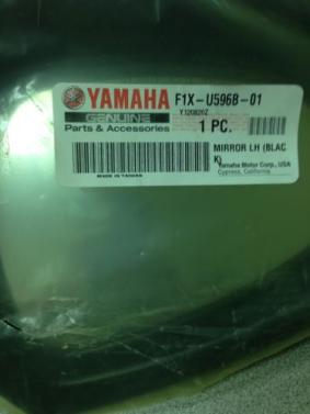 Mirror Left Hand Black Yamaha OEM 06 FX HO 08 FX Cruiser F1X-U596B-01-00