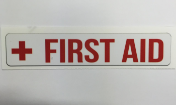 "Safety Decal Boat Marine ""First Aid"""