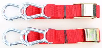 """FLY RACING TIE DOWNS 1.5X72/"""" SOFT TIE 29-0602 PAIR RED"""