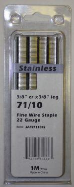 """Upholstery Staples Stainless Steel 71 Series 22Ga Gauge 3/8"""" Crown 3/8"""" Leg  JA7110SS"""